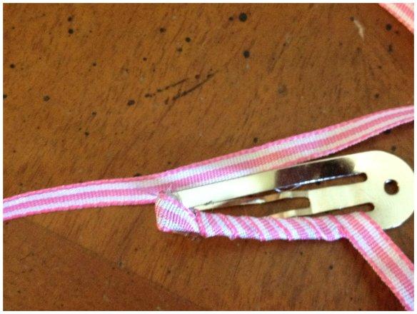 pink hairclip