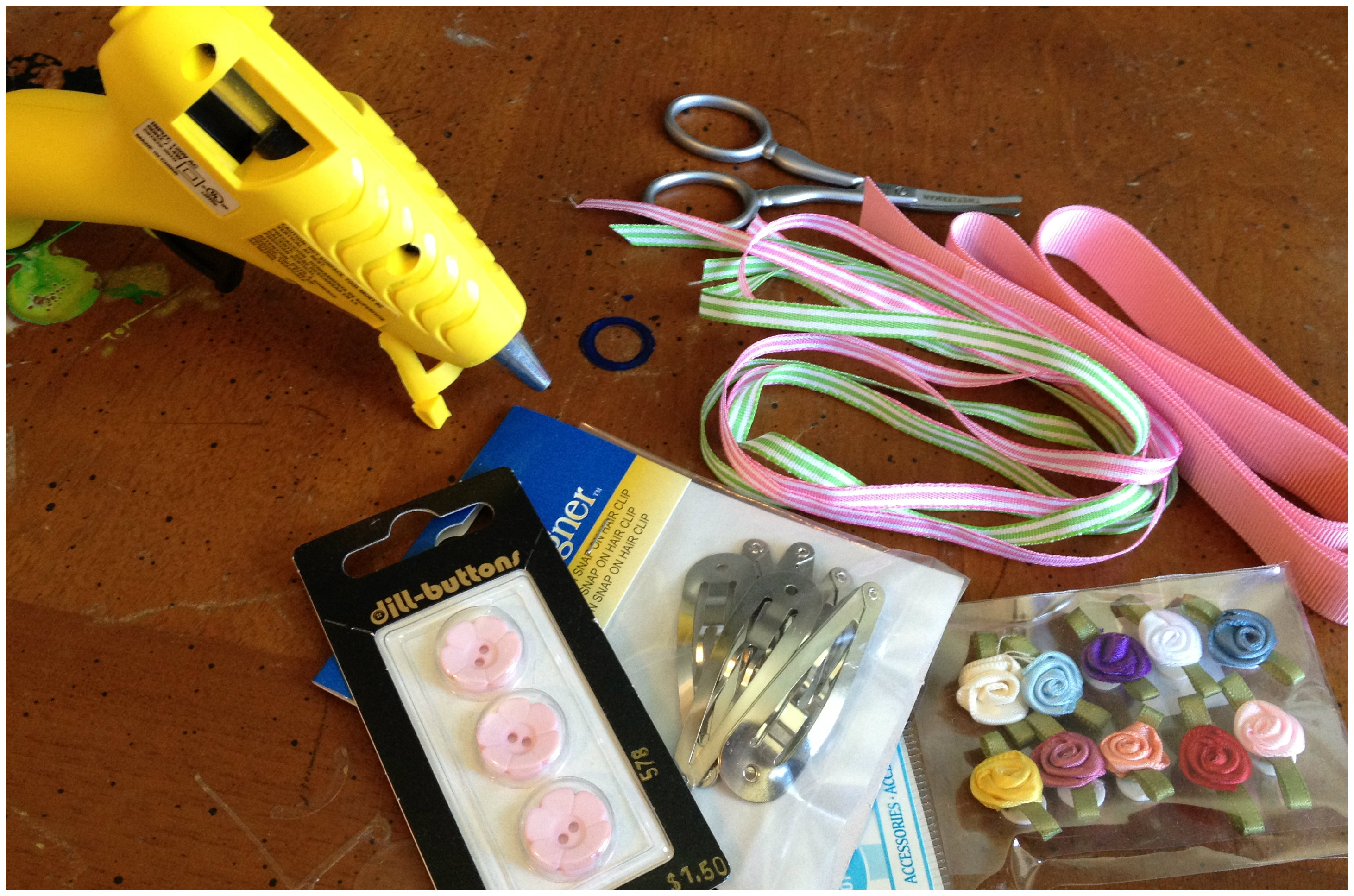 Diy hair accessories for baby girl - Supplies Hairclip Project
