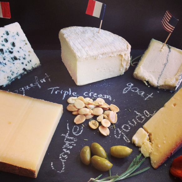 Franco-American cheese plate